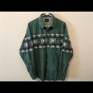 Vintage Wrangler Aztec Western Long Sleeve Shirt L